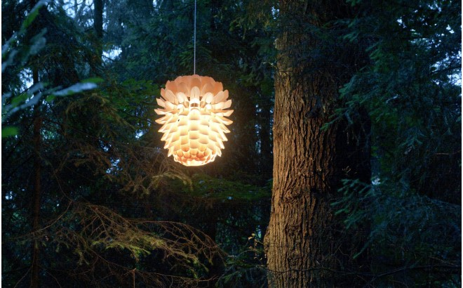 lampara infantil piña de pino de madera