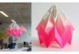 lámpara infantil origami moth gradient snowpuppe (rosa)