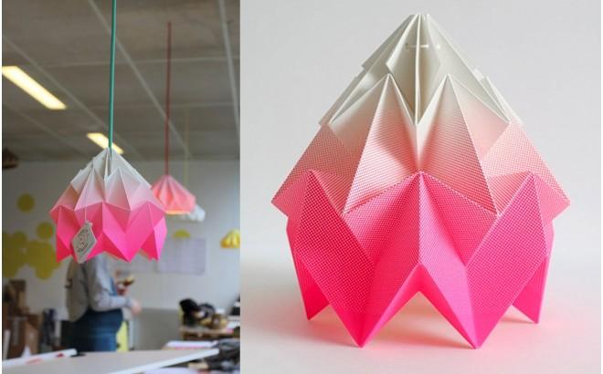 children origami lampshade moth gradient snowpuppe (pink)