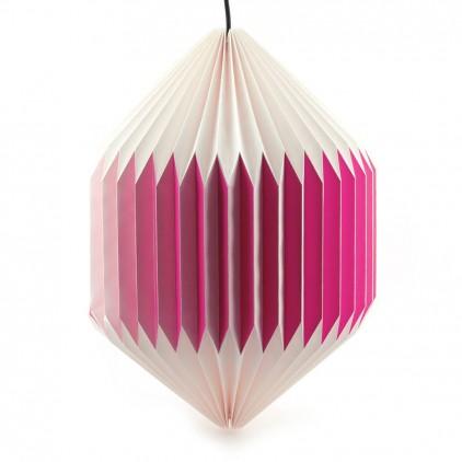lampara infantil bebé origami akura C rosa por sentou