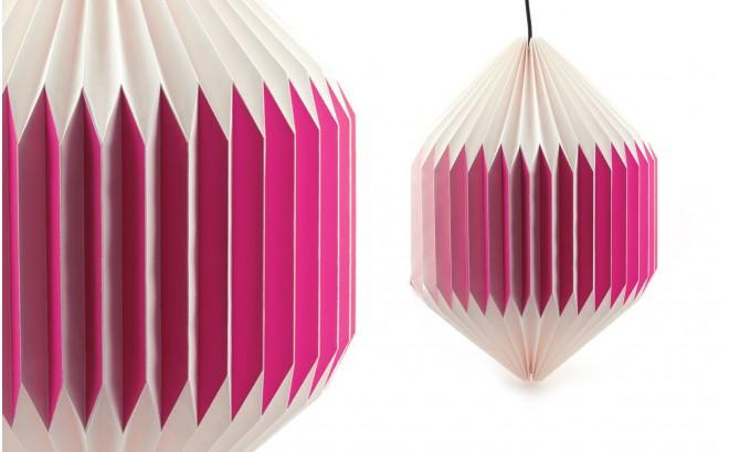 lampe enfant bébé origami akura C rose par sentou
