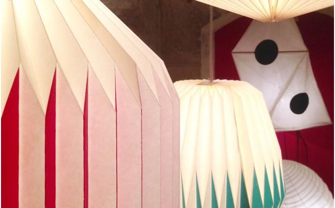 akura C pink baby kids origami light lamp by sentou