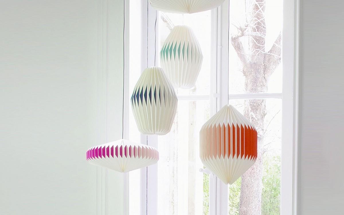 akura origami lampshade (pink)
