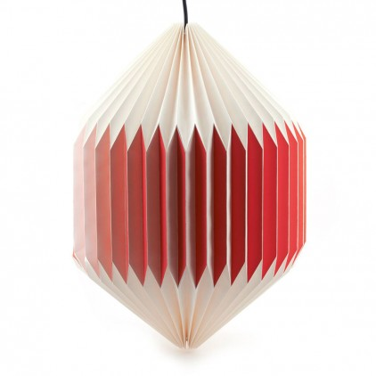 akura C red baby kids origami light lamp by sentou