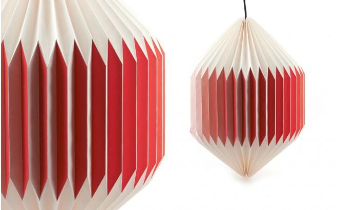 lampara infantil bebé origami akura C rojo por sentou