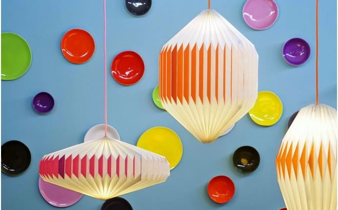akura C red baby kids origami light lamp by sentou