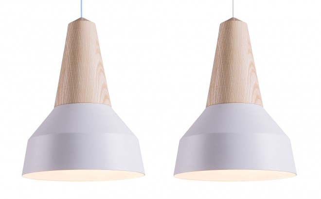 white metal and ash wood light lamp for kids room by schneid