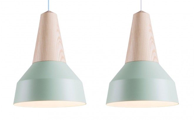 mint metal and ash wood light lamp for kids room by schneid