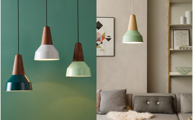 eikon basic mint metal wood light lamp for kids room by schneid