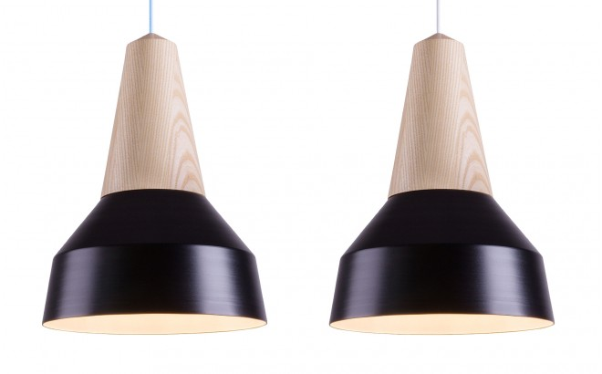 black metal and ash wood light lamp for kids room by schneid