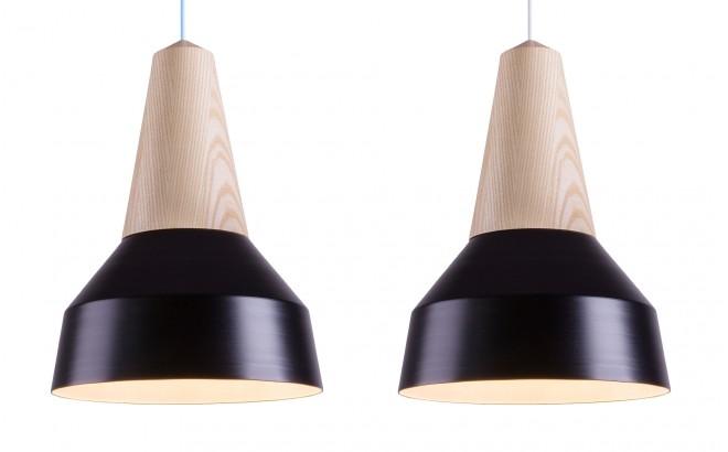 lampara infantil madera fresno y metal negro por schneid