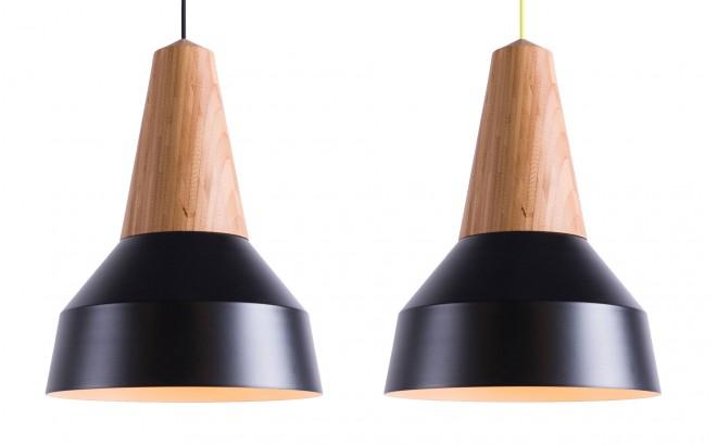 lampe enfant bois bambou et métal (noir)