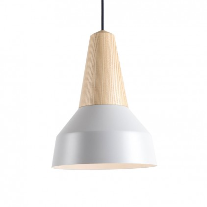 eikon basic grey metal wood light lamp for kids room by schneid