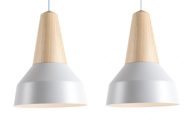nacre grey metal and ash wood light lamp for kids room by schneid