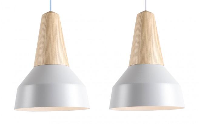 lampara infantil madera fresno y metal gris nacarado por schneid