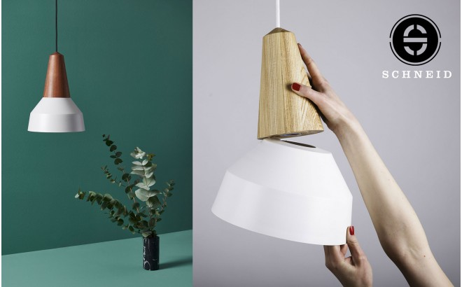 eikon basic nacre grey metal wood light lamp by schneid design
