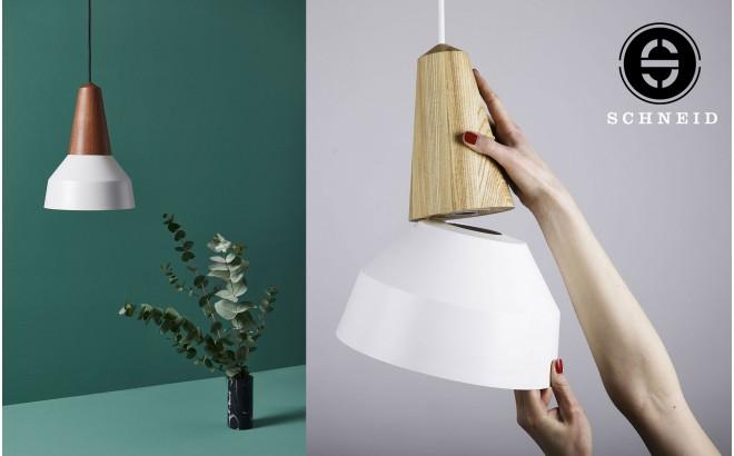 lampe eikon basic bois metal gris par schneid design