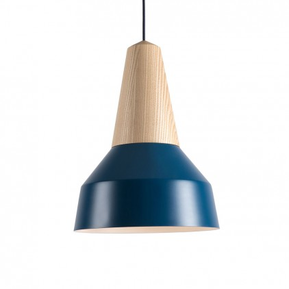 eikon basic nordic blue metal wood light lamp for kids room by schneid