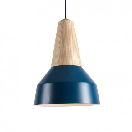 lampe eikon basic enfant bois metal bleu par schneid