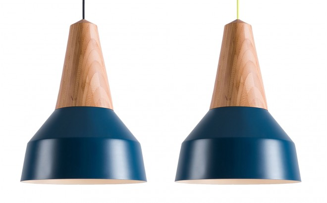 nordic blue metal and bamboo wood light lamp for kids room