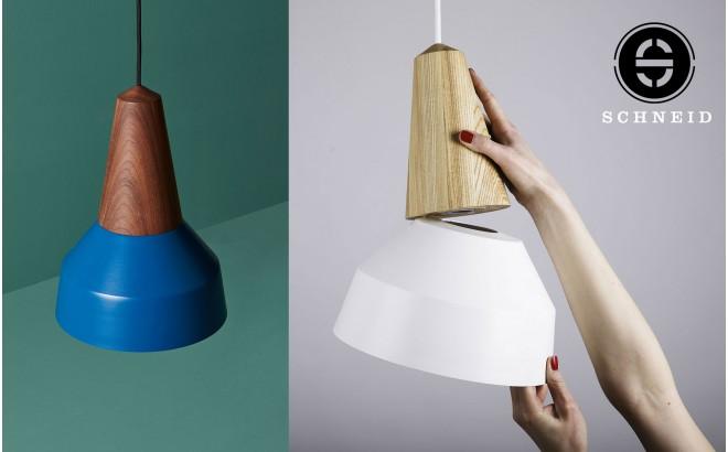 lampara infantil eikon basic madera metal azul por schneid