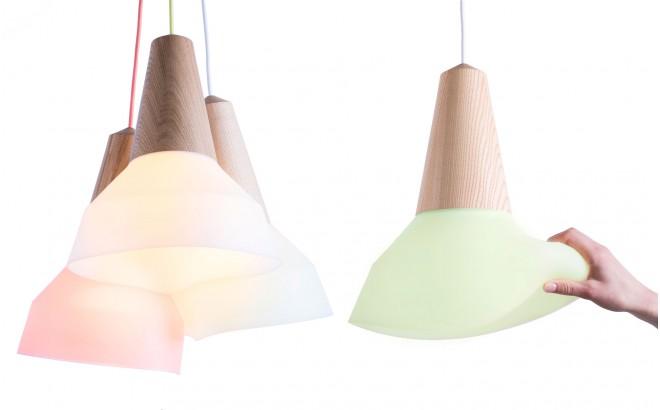 eikon bubble green silicon kids light lamp