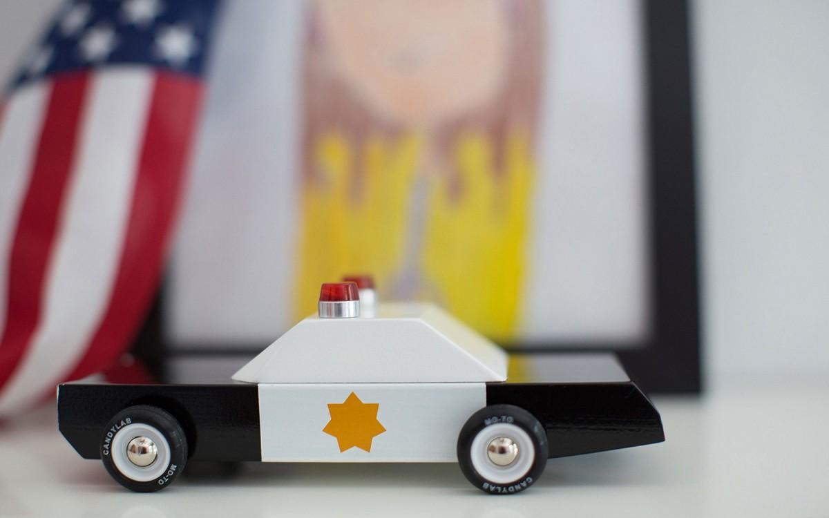 Police Cruiser coche de policía de madera