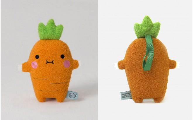 peluche doudou bébé et enfants Ricecrunch carotte par Noodoll