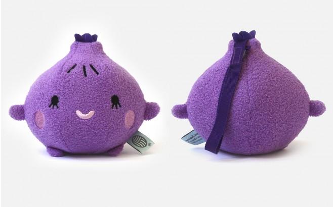 peluche doudou bébé et enfants RiceFig fruit violet par Noodoll