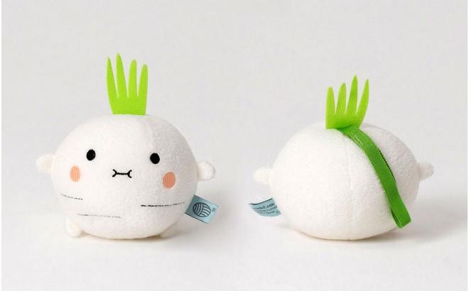 muñeco vegetal felpa para bebé y niños Riceradish blanco por Noodoll
