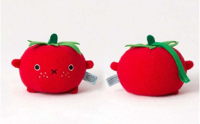 peluche doudou bébé et enfants Ricetomato Tomate rouge par Noodoll