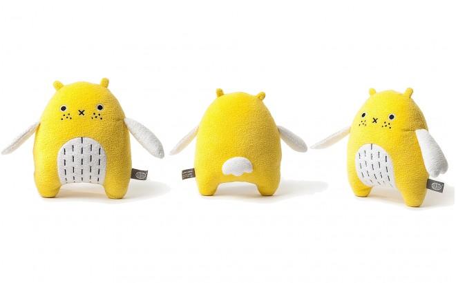 peluche doudou bébé et enfants Do jaune par Noodoll