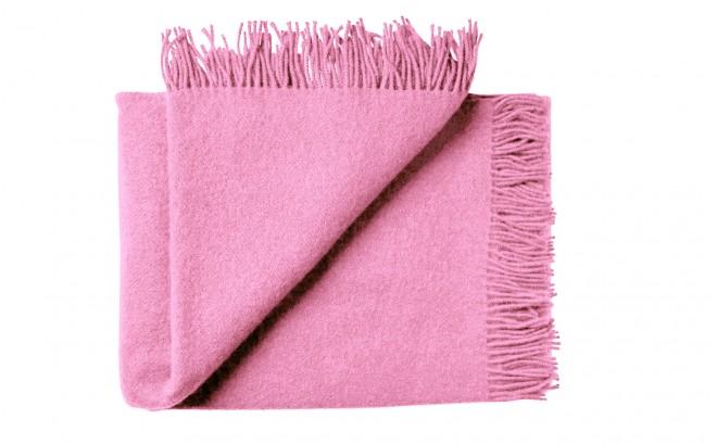Manta infantil de lana merino Virgen ecológica rosa