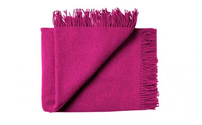 Manta infantil de lana merino Virgen ecológica rosa frambuesa