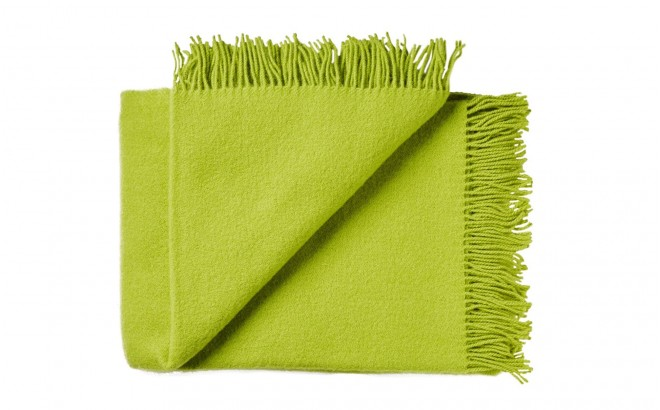 green yellow High Quality Scandinavian Merino wool kids Blanket