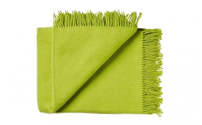 manta para niños de lana virgen de alta calidad amarillo verde