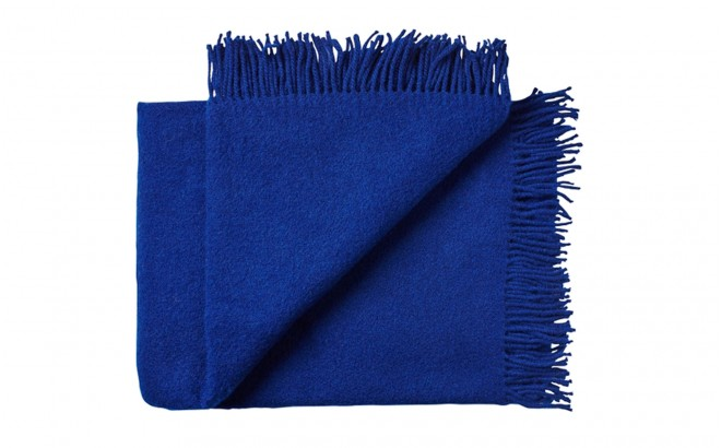 royal blue scandinavian wool blanket for kids