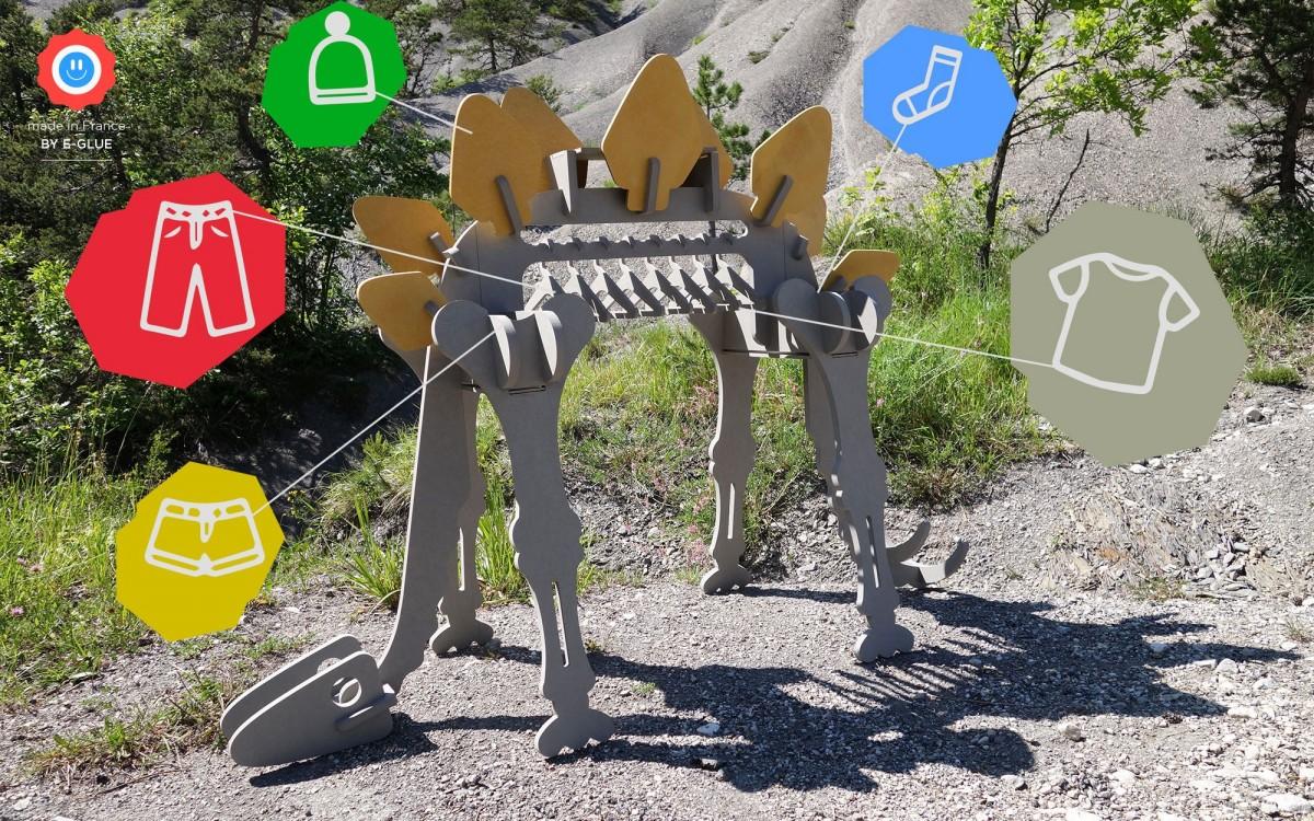 perchero de ropa infantil dinosaurio