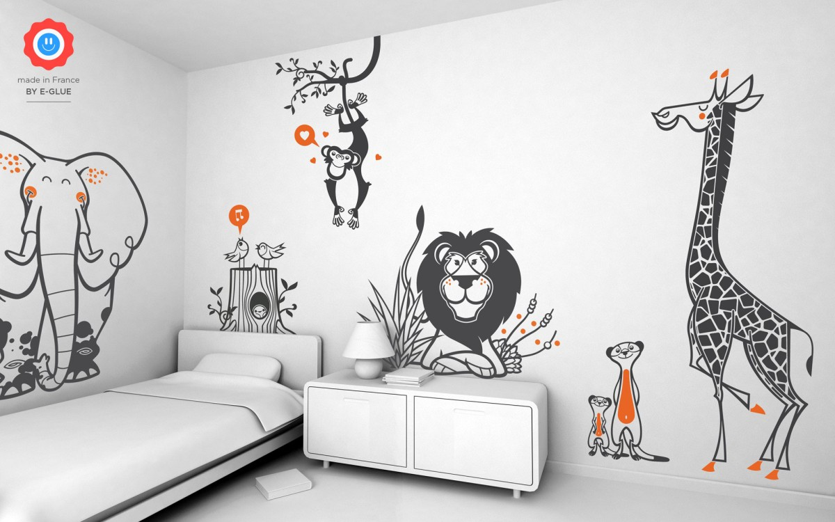 stickers enfant lion