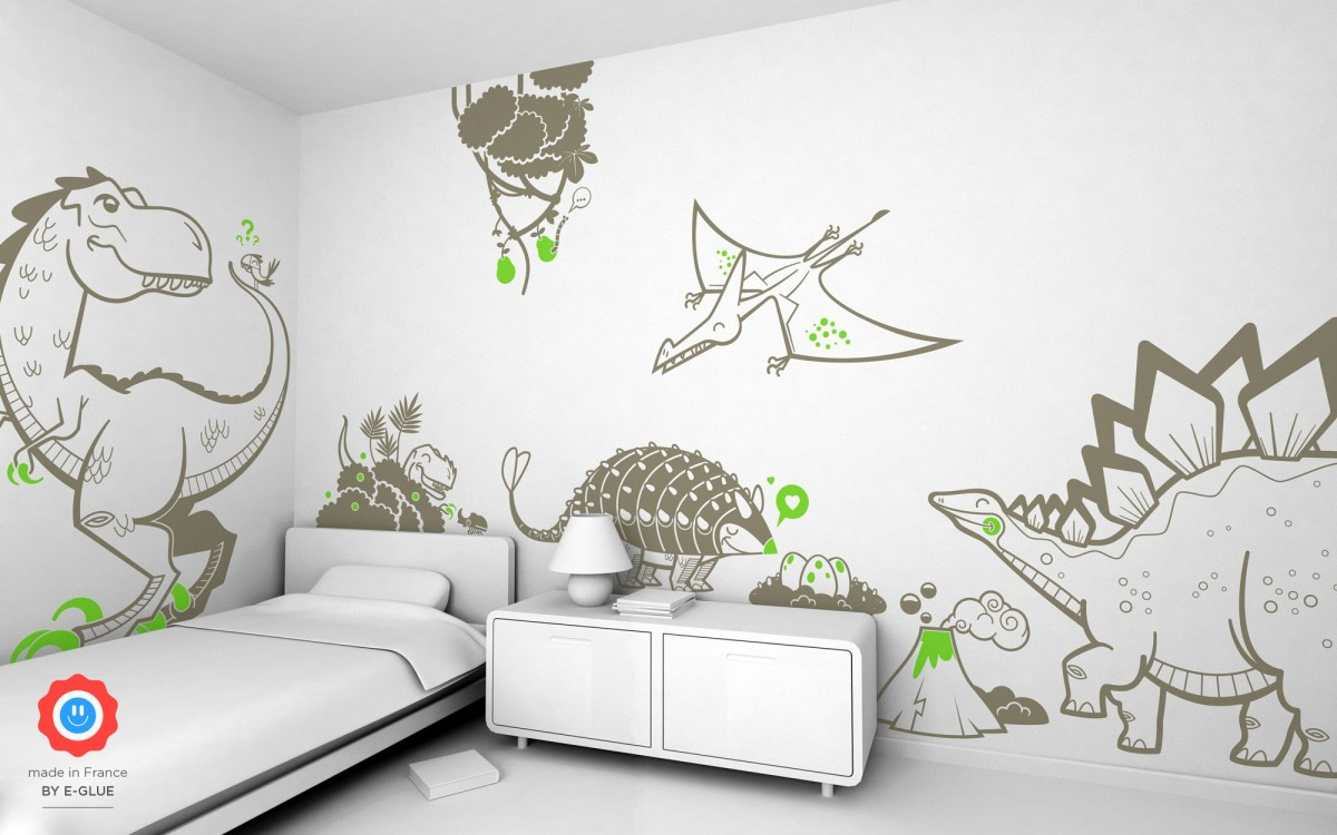 stegosaurus kids wall decals
