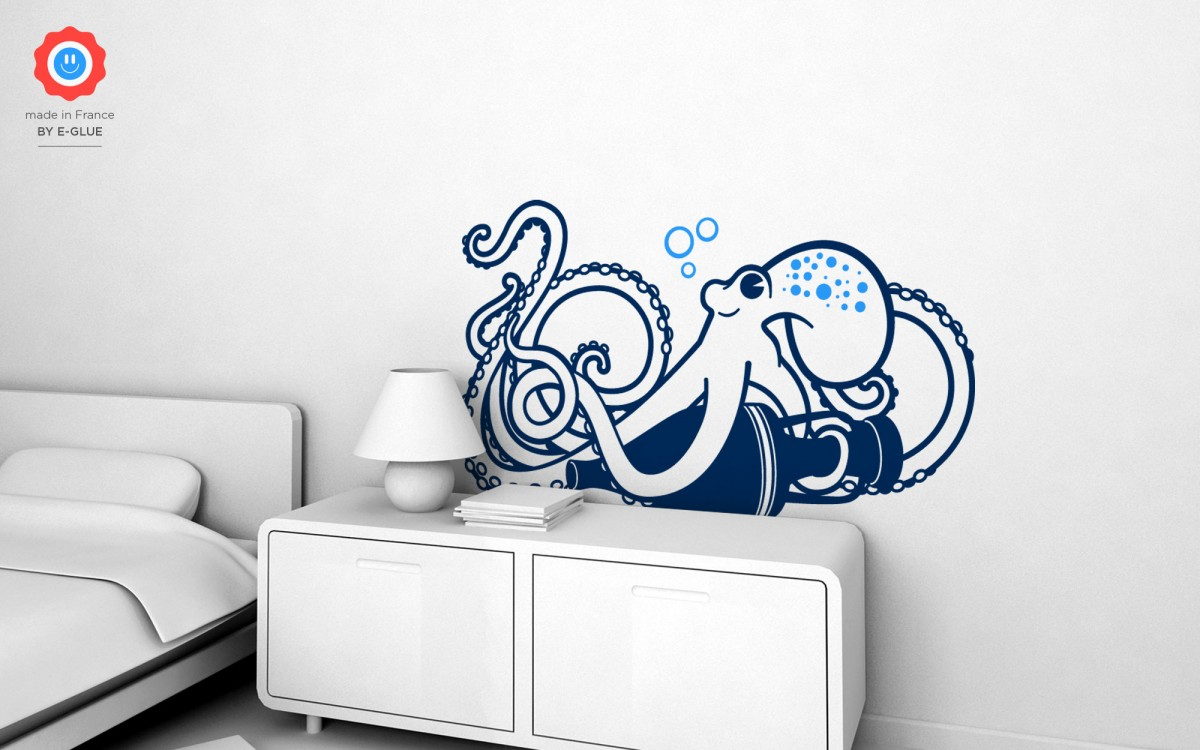 octopus kids wall decals