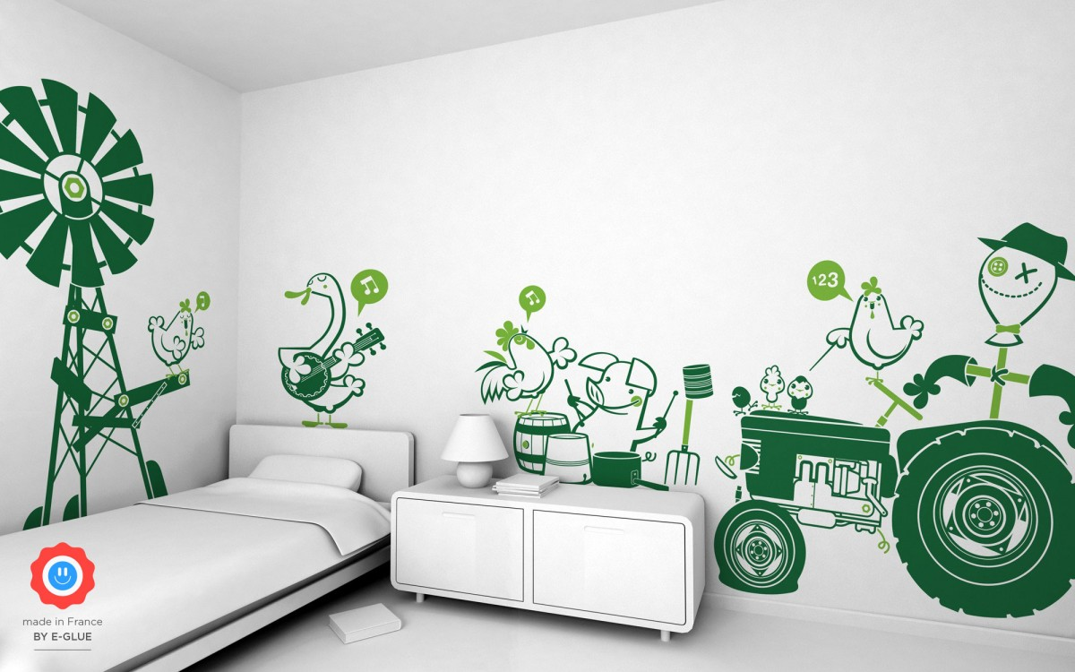 sheep kids wall decals