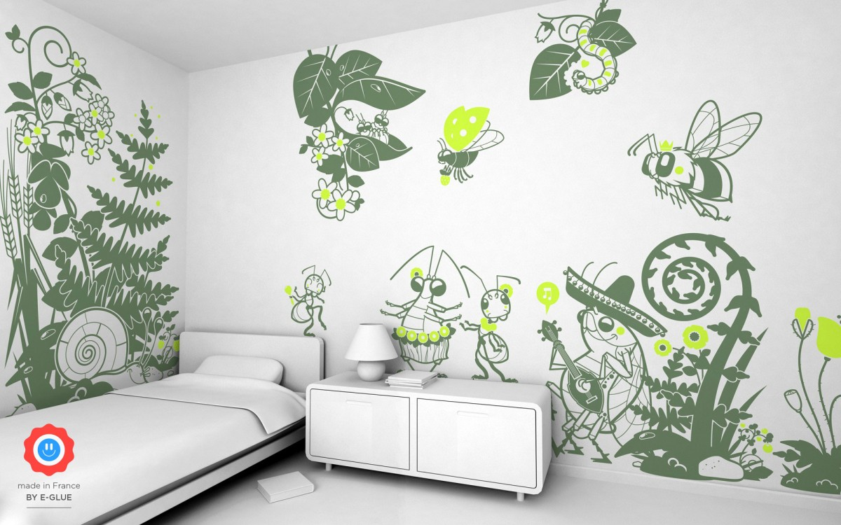 snail kids wall decals