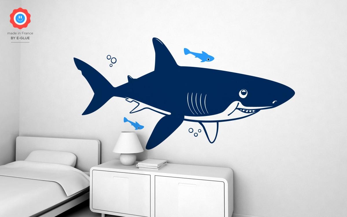 vinilos infantil tiburón (XXL)