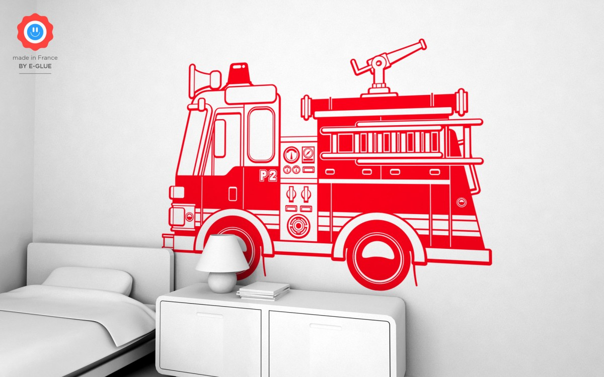 firetruck wall decals (XXL)