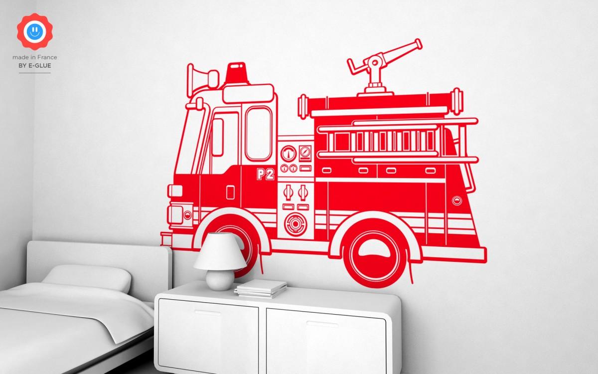 stickers camion de pompier (XXL)