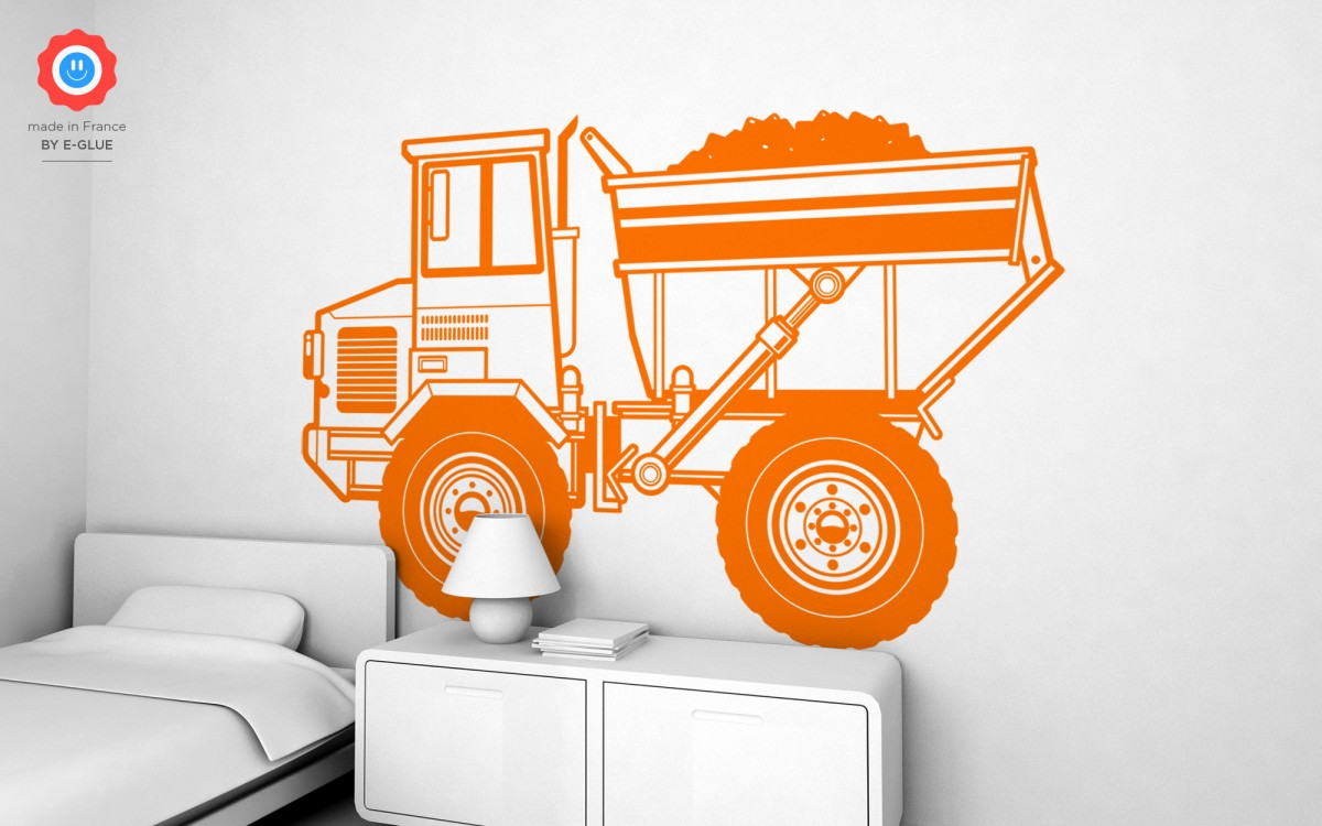 dump truck wall decals (XXL)