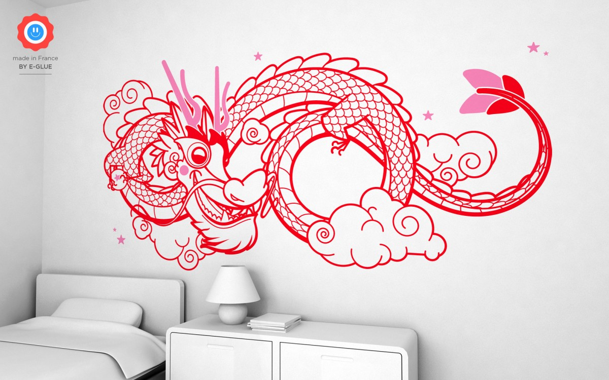 stickers dragon chinois (XXL)