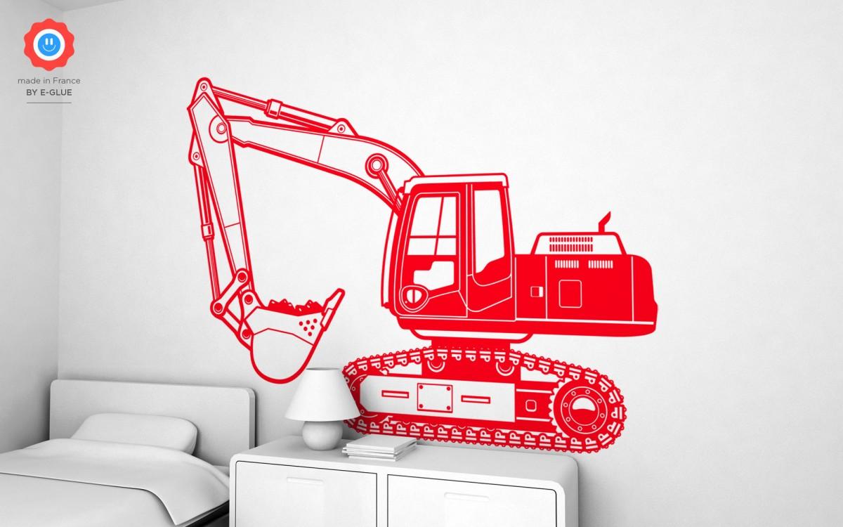 excavator digger wall decals (XXL)