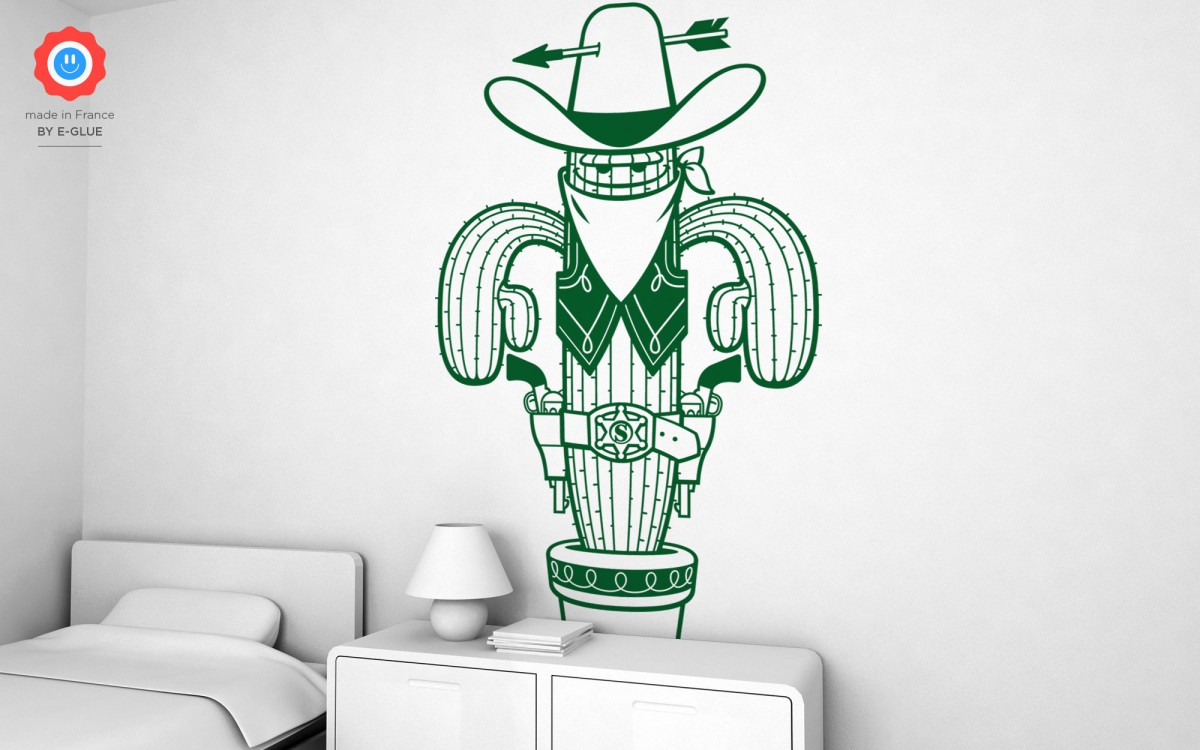 stickers shérif cactus (XXL)